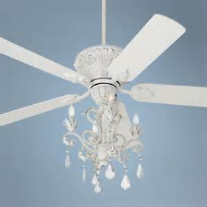 white ceiling fan with chandelier casa rubbed white chandelier ceiling fan 87534