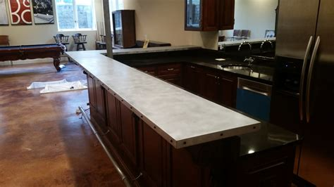 metal bar top zinc countertops custom metal home