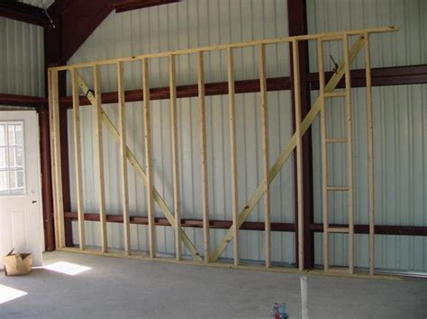 Metal Building Interior Walls by Insulating A Steel Building Used As A Home