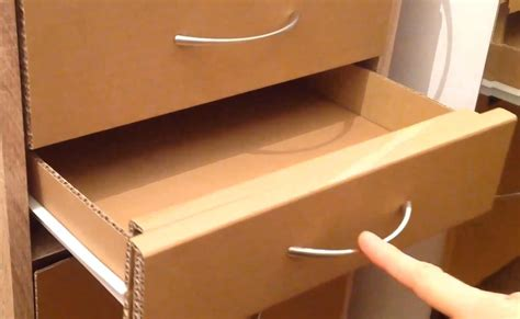How To Make A Drawer Box Out Of Paper - how to make a cardboard drawer corrugated cardboard