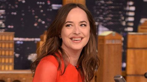 why doesnt dakota johnson shave dakota johnson can t keep a straight face during fifty