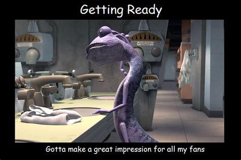 monsters inc bathroom scene randall getting ready motivational poster by blackwolfstar15 on deviantart