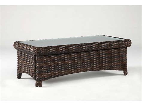 Wicker Coffee Tables South Sea Rattan St Tropez Wicker 48 X 24 Rectangular Glass Coffee Table 79344