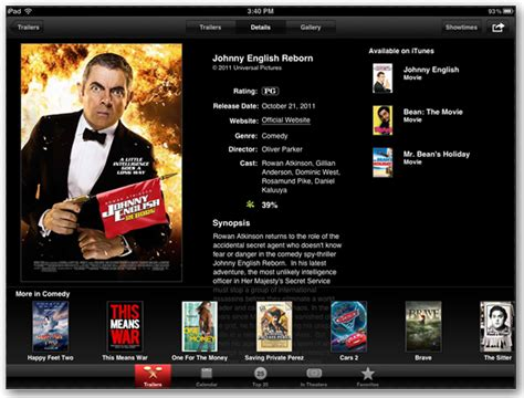 film it app apple movie trailers app lets you view new movie trailers