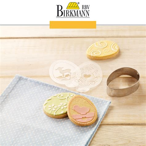 RBV Birkmann   Stencil Set for Cookies Easter   Cookfunky