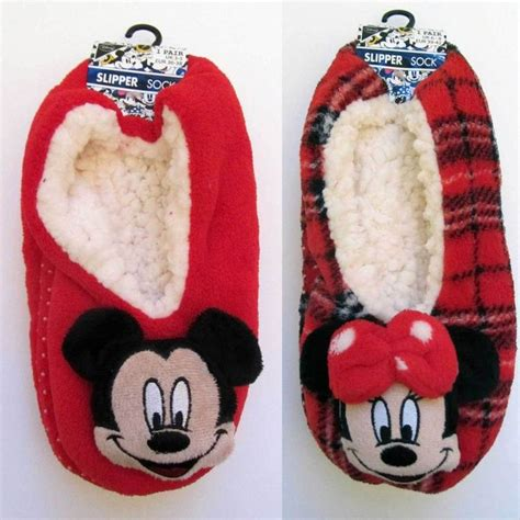 mickey mouse slipper socks details about primark disney mickey or minnie mouse