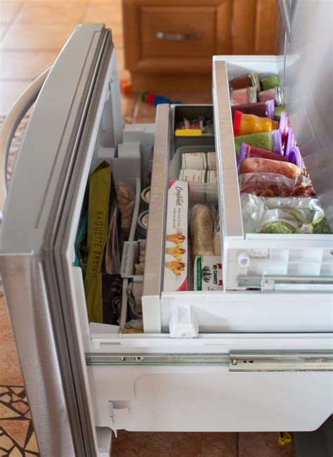 Pull Out Kitchen Cabinet Organizers tour my kitchen refrigerator and freezer organization