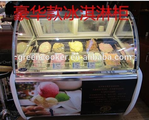 Freezer Tunggal es krim komersial menyendoki display freezer peralatan