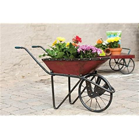 Rustic Wheelbarrow Planter by 45 Quot Fashioned Distressed Country Rustic