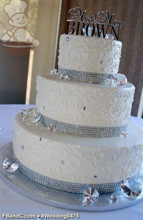 "Design W 0475   Butter Cream Wedding Cake   14"" 10"" 6"