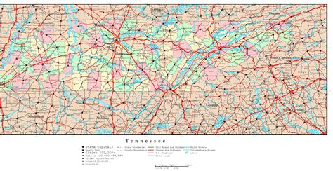 map of and tennessee tennessee political map