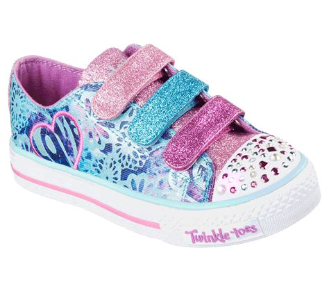 Sepatu Skechers Glow In The buy skechers twinkle toes shuffles sweet spirit s