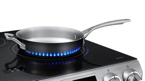 flames tell you when samsung s induction stove gets