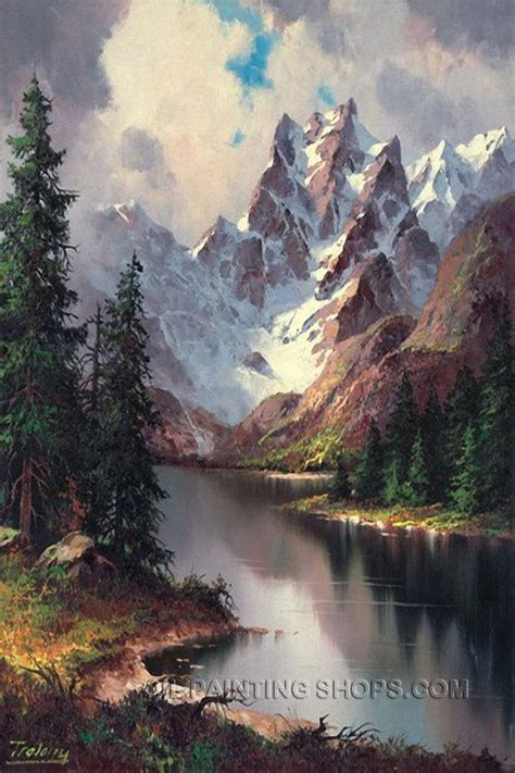 25 beautiful landscape paintings ideas on