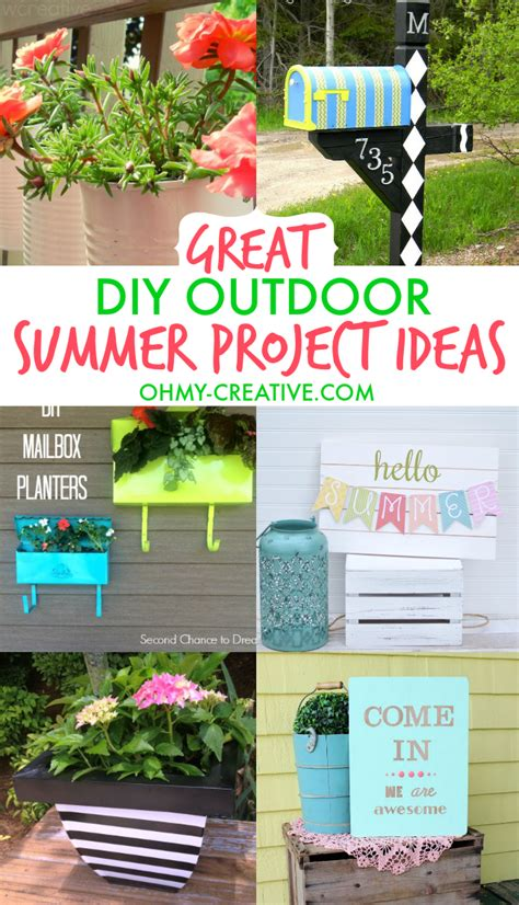 diy exterior decorations great diy outdoor summer project ideas mailbox planters and backyards