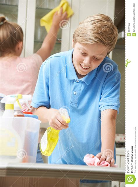 cleaning a house with preschoolers don t be silly have children helping to clean house stock photo image 66397670