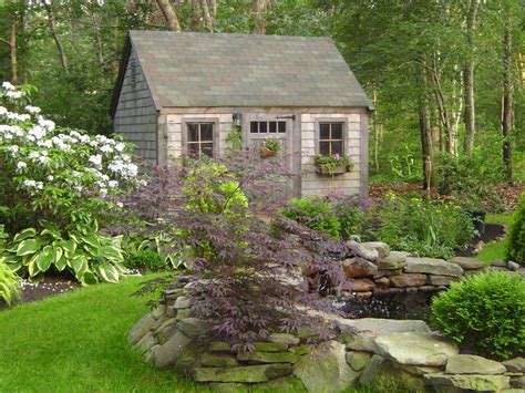 Shed In Backyard by Garden Sheds They Ve Never Looked So Landscaping