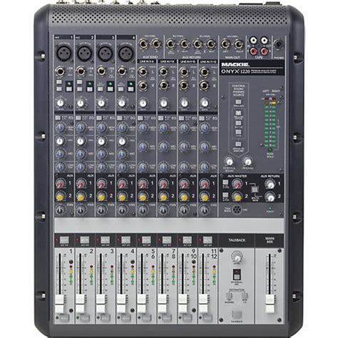 Mixer Mackie mackie onyx 1220 12 channel mixer musician s friend