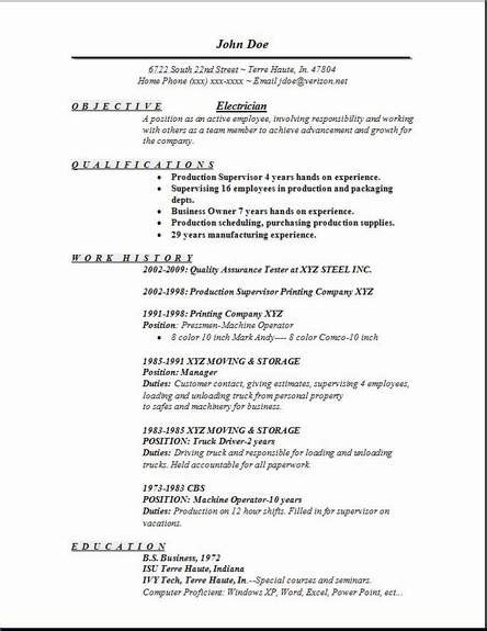 electrician resume format free electrician resume occupational exles sles free edit with word
