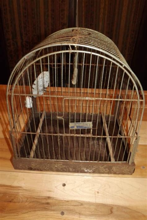 birdcage swing cages vintage reliance metal bird cage with perches and