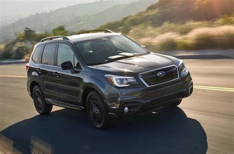 black subaru 2018 subaru forester black edition announced in u s