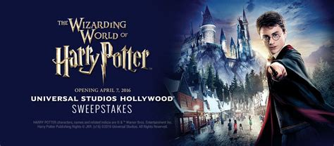 Universal Studios Sweepstakes - the wizarding world of harry potter universal studios hollywood sweepstakes official