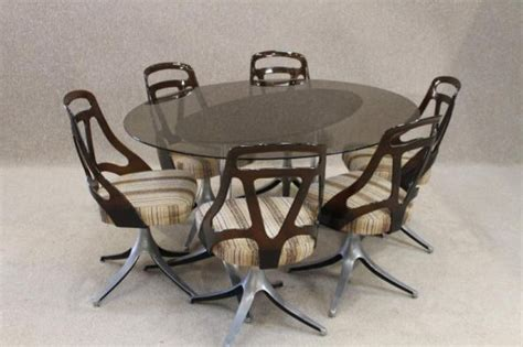 retro dining room table and chairs 1970s