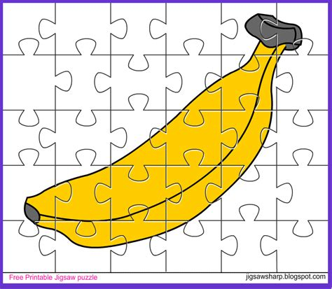 printable photo jigsaw puzzles free printable jigsaw puzzle game banana jigsaw puzzle