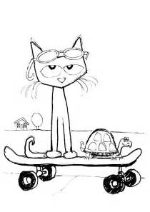 pete the cat coloring pages pete the cat printables coloring home