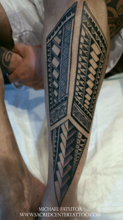 tribal tattoo zine polynesian tribal shin leg