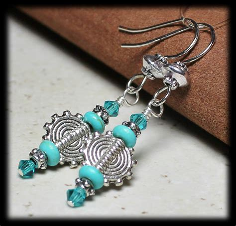Handmade Jewelry Etsy - suns handmade beaded jewelry earrings aqua teal