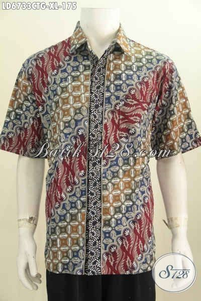 Pakaian Busana Pria Baju Kemeja Pendek Motif Murah 5 pakaian batik masa kini buatan baju batikkeren motif elegan model lengan pendek pas untuk