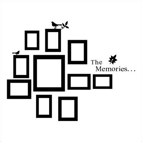 wall stickers frames creative wall decal picture frames put all that on