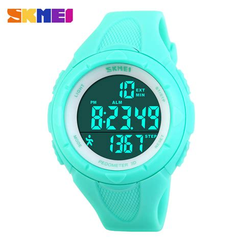 skmei fashion brand sports watches 3d pedometer