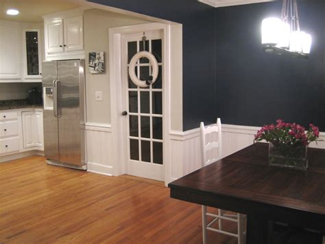 luxury dining room painting ideas with wainscoting light