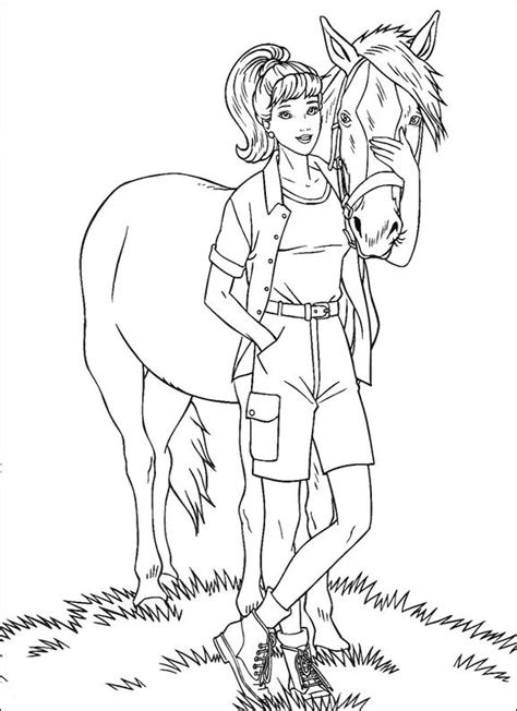 barbie coloring pages doll palace barbie with horse coloring pages barbie dolls cartoon