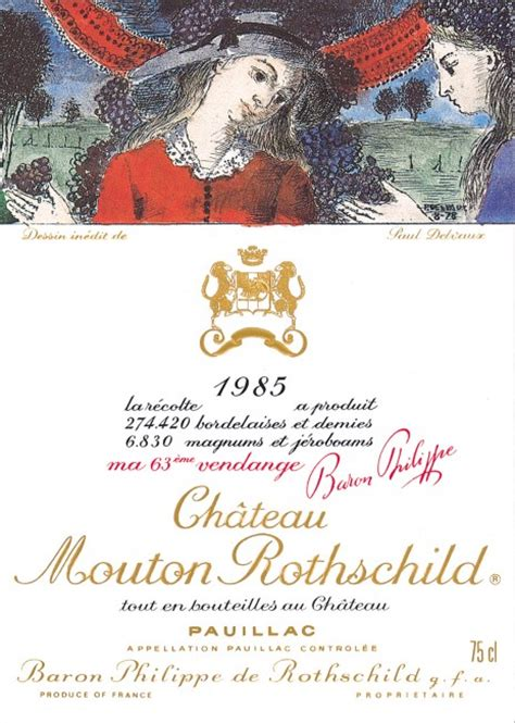 ch 226 teau mouton rothschild the labels room mouton rothschild 1985 paul delvaux