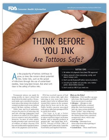 are tattoos safe think before you ink are tattoos safe