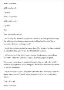 Sle Tenancy Letter From Landlord Sle Letter To Terminate Lease Agreement Early Docoments Ojazlink