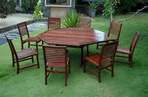 Octagon Patio Table Teak Monte Cristo Cambria Octagon Table Dining Set