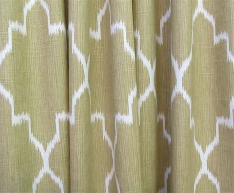 ikat drapery panels ikat straw color and white two lined drapery by