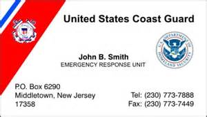 coast guard business cards policebusinesscards display business cards