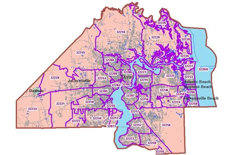 printable zip code map jacksonville fl duval county florida zip code map pictures to pin on