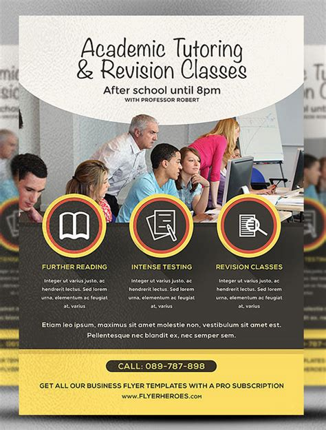 18 Best Academic Flyer Templates Designs Free Premium Templates College Flyer Template