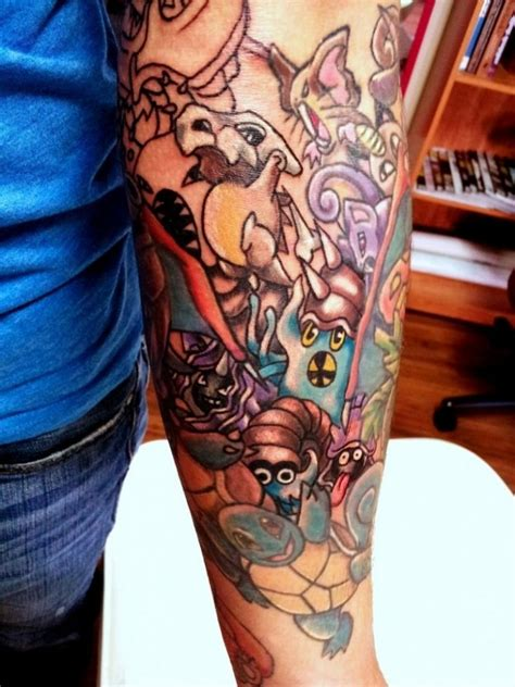 pokemon tattoo sleeve 11 best sleeve images on