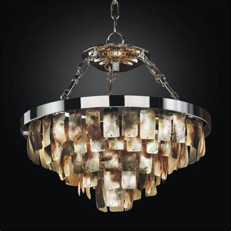 Tiered Mother Of Pearl Pendant Chandelier Malibu Glow Pearl Chandelier