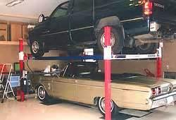 backyard buddy car lifts automotive lift 4 post lift 7 000 lb extended