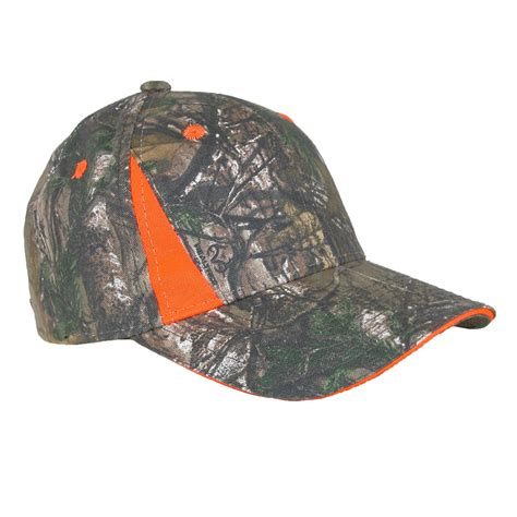 blaze orange camo hat xtra green camo blaze orange baseball cap by realtree