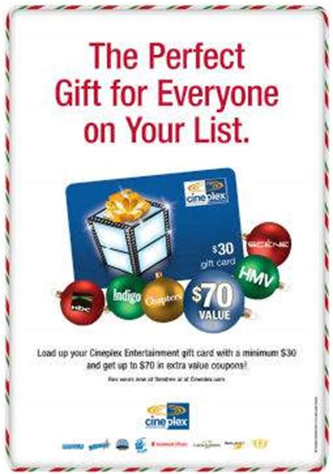 cineplex gift pack cineplex canada purchase a 30 gift card and a free