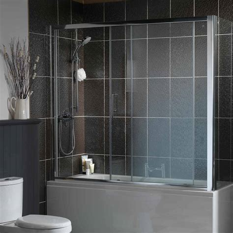 bathtub with shower enclosure bathtub shower enclosures overbath single sliding